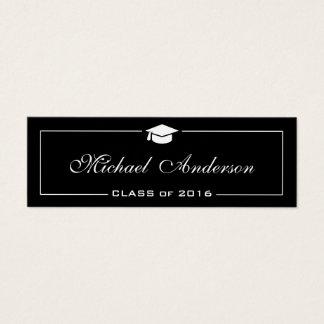 Cartão conhecido da graduação - na moda preto e