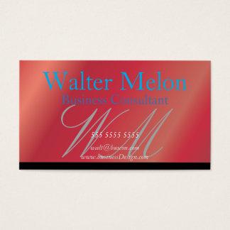 Cartão conhecido da morango do consultor