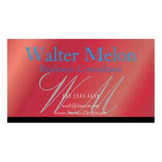 Cartão conhecido da morango do consultor cartão de visita