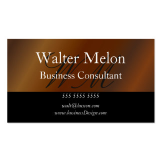 Cartão conhecido do ouro do consultor empresarial cartão de visita