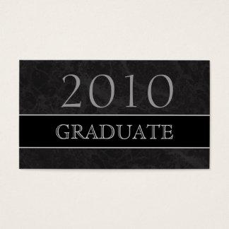 Cartão conhecido do perfil 2010 graduado - mármore