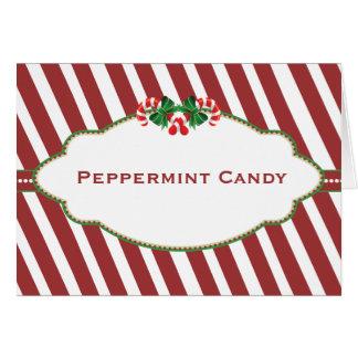 Cartão conhecido dos doces do bufete dos doces do