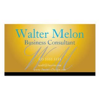 Cartão conhecido dourado do consultor empresarial cartão de visita