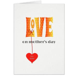 Cartão conhecido personalizado dia das mães do