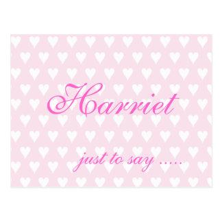 Cartão conhecido personalizado dos corações das