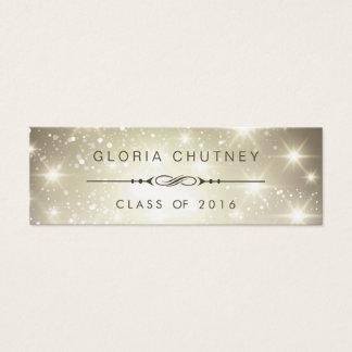 Cartão conhecido Sparkling da graduação pessoal de