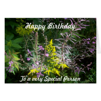 Cartão Conjunto do Wildflower