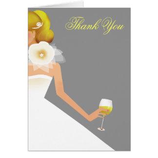 Cartão Conjunto nupcial do vinho
