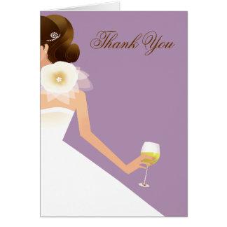 Cartão Conjunto nupcial do vinho (lilac)