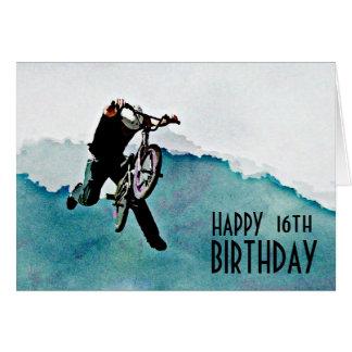 Cartão Conluio da bicicleta do estilo livre BMX
