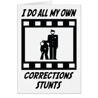 Cartão Conluios das correções