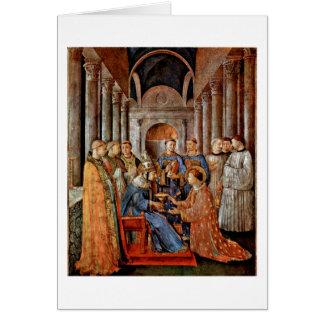 Cartão Consagração de St.Lawrence por Fra Angelico