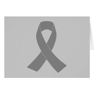 Cartão Consciência cinzenta da fita - zombi, cancro