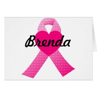 Cartão Consciência cor-de-rosa do cancro da mama da fita