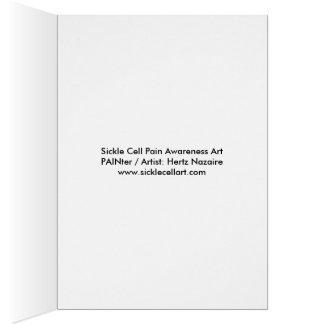 Cartão Consciência da dor da célula falciforme