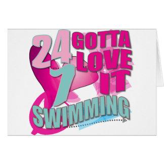 Cartão Conseguiu amar presentes da natação para nadadores