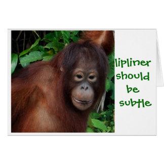 Cartão Conselho da beleza do batom da menina da selva