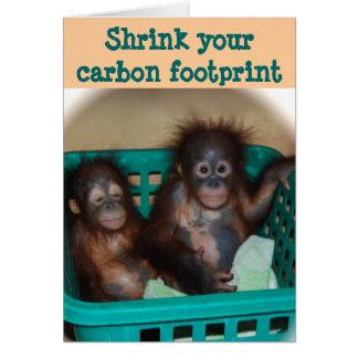 Cartão Conselho da pegada do carbono