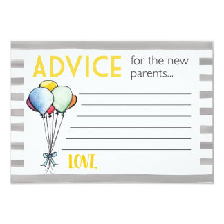 Cartão Conselho do chá de fraldas para pais novos