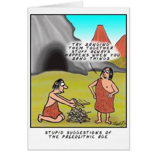 Cartão Conselho estúpido