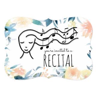 Cartão considerando da música da beira das flores