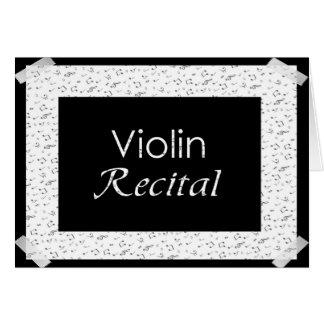 Cartão Considerando do violino