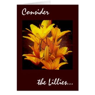 Cartão Considere o Lillies