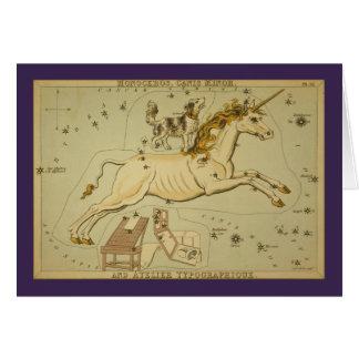 Cartão Constelação de Monoceros (unicórnio)