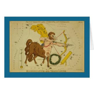 Cartão Constelação do Sagitário
