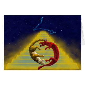 Cartão Constelação do tigre do dragão