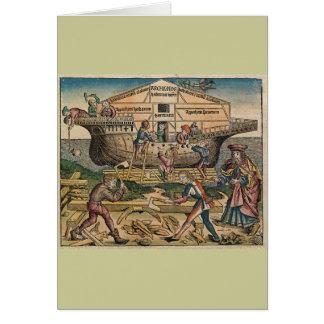 Cartão Construção da arca