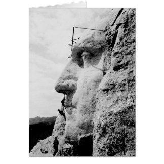 Cartão Construção do Monte Rushmore de George Washington
