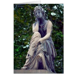 Cartão contemplativo da deusa