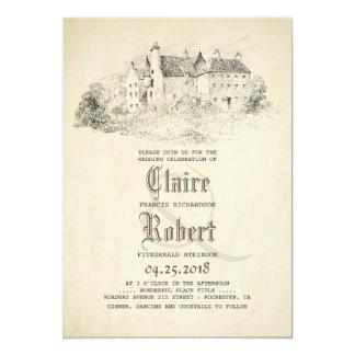 Cartão Conto de fadas - casamento vintage velho do