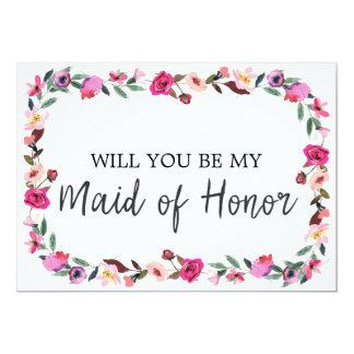 Cartão Conto de fadas romântico você será minha madrinha