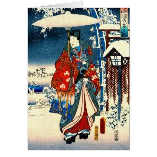 Cartão Conto do direito de Genji 1853