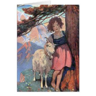 Cartão Conto do livro de histórias das crianças clássicas