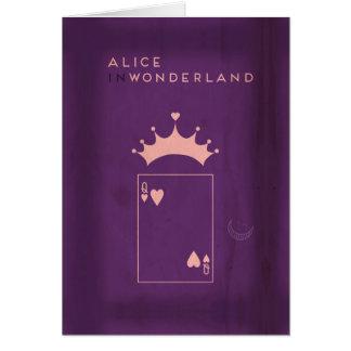 Cartão Contos de fadas minimalistas | Alice no país das