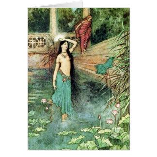 Cartão Contos populares de belas artes do vintage do ~ de