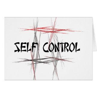 Cartão Controle de auto dos princípios das artes marciais