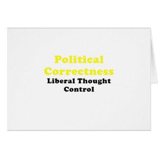 Cartão Controle de pensamento liberal da exatidão