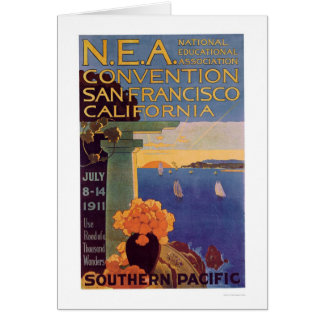 Cartão Convenção San Francisco 1911 da educação