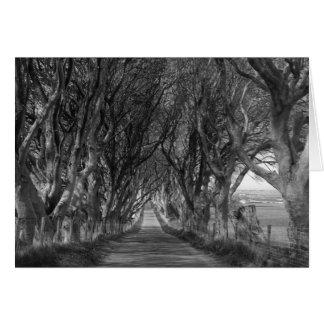 Cartão Conversão escuras em preto e branco