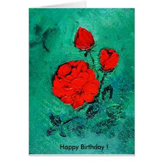 Cartão conversas     Happy roses Birthday!
