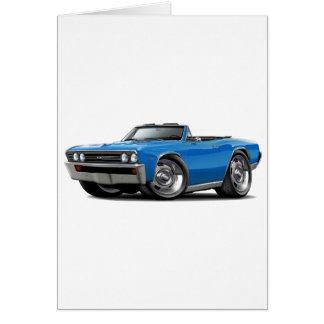 Cartão Convertible 1967 azul de Chevelle