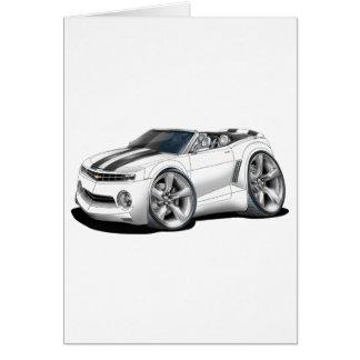 Cartão Convertible 2012 Branco-Preto de Camaro