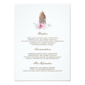 Cartão Convidado da informação do casamento da lanterna