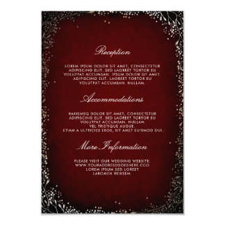 Cartão Convidado floral da informação do casamento de