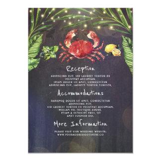 Cartão Convidado tropical da informação do casamento do