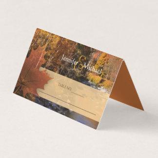 Cartão Convidados do casamento do outono da folha de